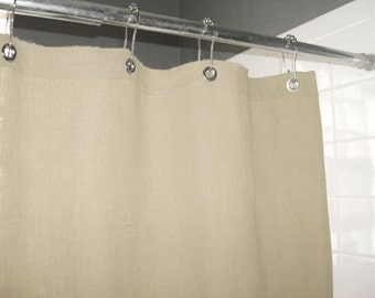 Natural (Ecru) Shower Curtain Made in USA