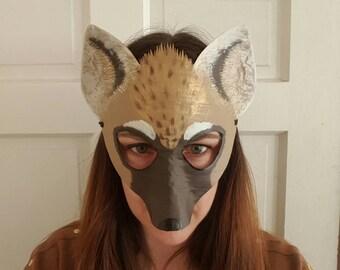 Hyena mask, hyena costume