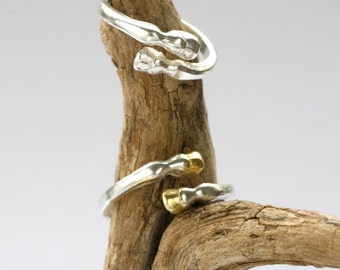 Sterling Silver Horse Hooves Ring.