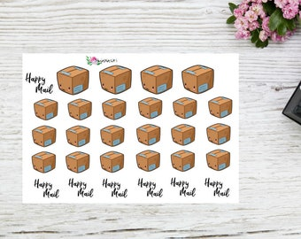 Planner stickers happy mail package cute box happy mail planner stickers