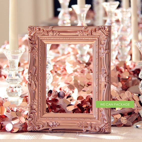 ROSE GOLD Picture Frame Vintage Shabby Chic Photo 5 x