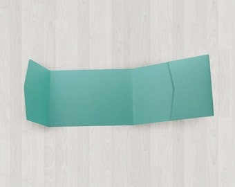 10 Panorama Pocket Enclosures - Teal & Blue-Green - DIY Invitations - Invitation Enclosures for Weddings and Other Events