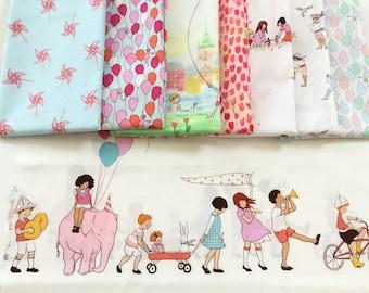 8 FQ Bundle Kids at Play Best of Sarah Jane  ~ Pinwheels Aqua +  Balloon + Dolls + A Pirate's Life  ~ Michael MillerCollection