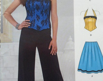 Misses Corset Top,Pants,and Skirt Pattern Newlook 6242 Misses Size 4-16