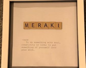 Scrabble word frame