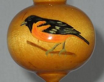 Wooden Christmas Ornament, Baltimore Oriole, WBO-40