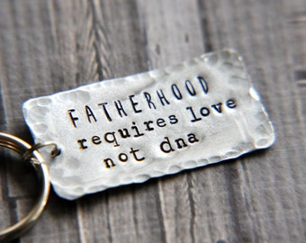 Dad Keychain - Hand Stamped Keychain - Dad Gift - Husband Gift - Gift for Him - Adoption Keychain - Dad Key Chain - Fathers Day - Fatherhood