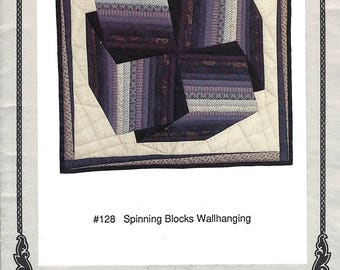 """Spinning Blocks Wallhanging Wall Quilt from Oregon Treasures Finished Size 33"""" Square NEW PATTERN"""