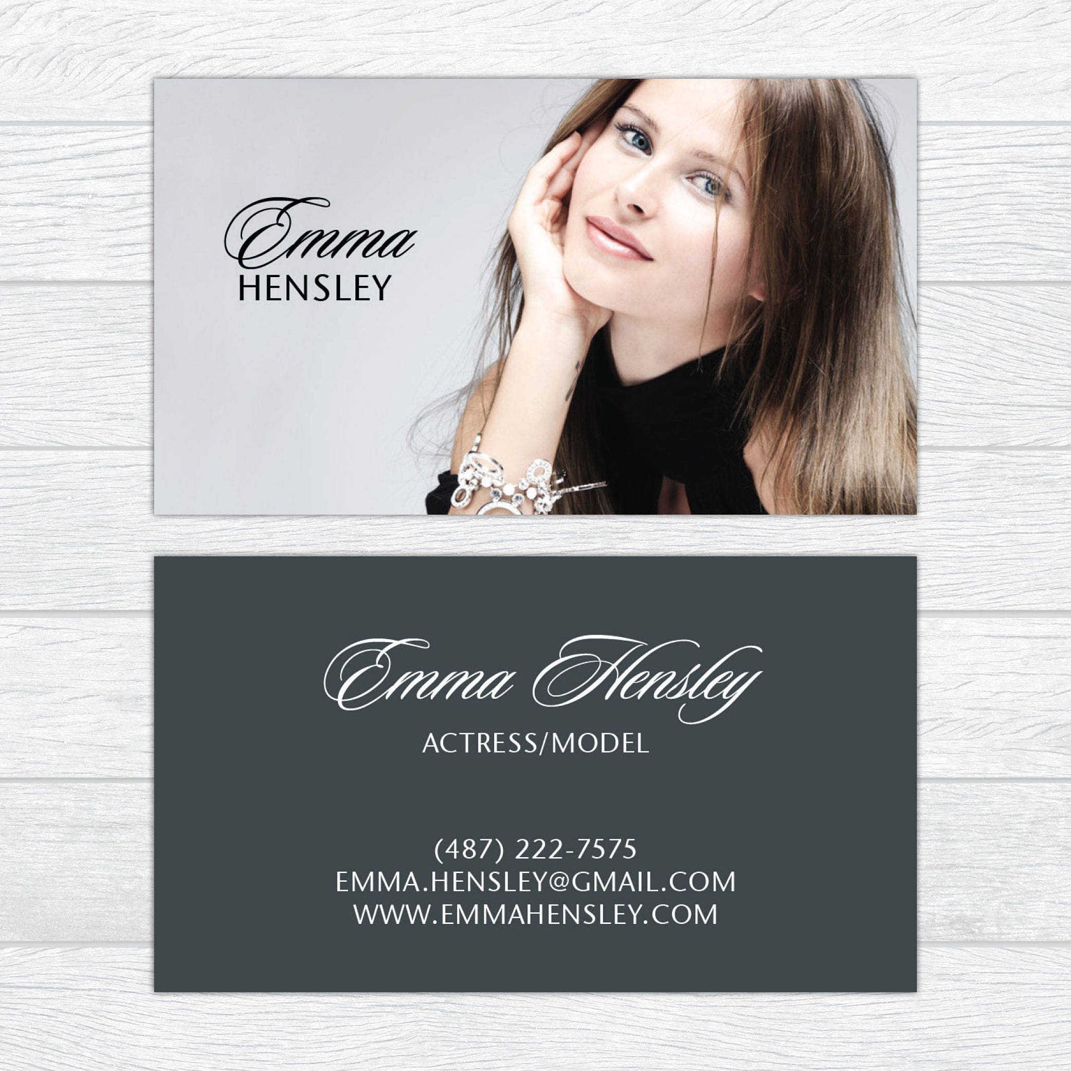 Modeling Business Cards Fashion Business Cards Professional