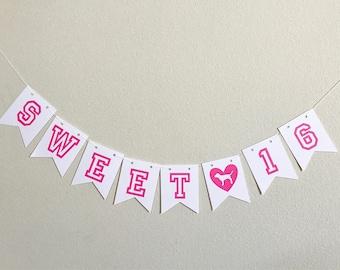Victoria's Secret Sweet 16 Banner/ Pink Sweet 16