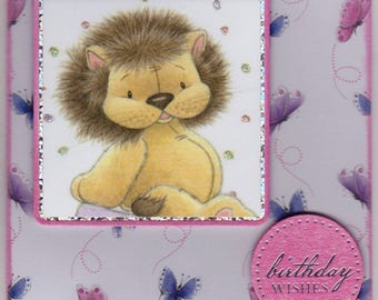 Lion & Butterfly Birthday Wishes