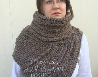 Sale *20% Off* READY TO SHIP Katniss Inspired Cowl in Brown Tweed, Katniss Everdeen Inspired Cowl, Huntress Vest, Costume