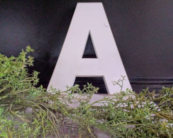 Vintage Industrial Salvage Letter A - Molded Plastic Letters