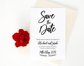 Save The Date, Save the date card, save the dates, wedding announcement, wedding, wedding date card, Printed card, wedding inspiration