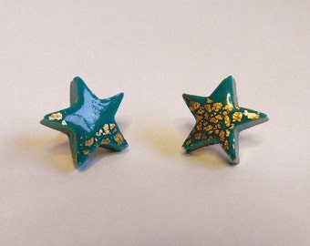 Turquoise Star Stud Earrings Turquoise Star Post Earrings Turquoise Post Earrings Turquoise Stud Earrings