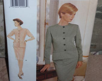 Vogue 9285  Jacket and Skirt  Size 14 to 16 Very Easy  New Uncut