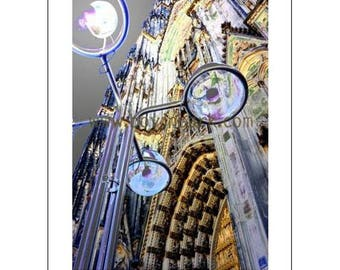 Photographic Art Greeting Card - Incandescent Dom