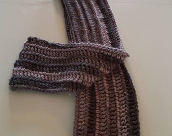 Gray and Black Mans Scarf