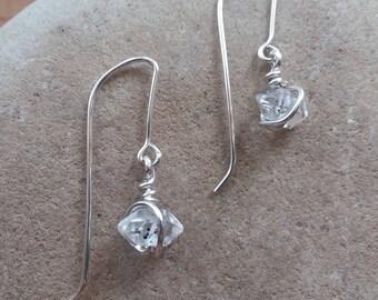 Herkimer Diamond Dangle Drop Earrings