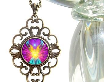"""Unique Rainbow Pendant, Angel Necklace, Reiki Jewelry """"Beacon"""""""