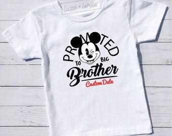Big Brother Shirt Little Brother Shirt Promoted to Big Brother Shirt Pregnancy Announcement Shirt Baby Announcement Shirt Gender Reveal