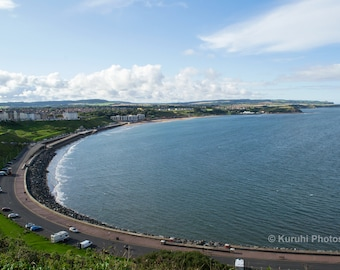 Scarborough Ocean North Bay Yorkshire Waterscape Photo Or Canvas Print Multiple Sizes