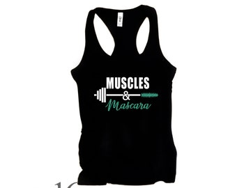 muscles & mascara, fitness, racerback, Tank,