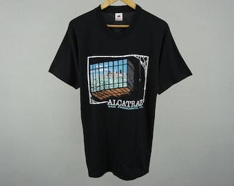 Alcatraz Shirt Alcatraz Island San Francisco Vintage T Shirt Vintage Alcatraz California T Shirt Men's Size XS