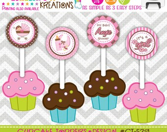 CT-529: DIY - Sleepy Baby 4 Cupcake Toppers