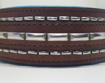 Bully Industries leather old rustic dog collar