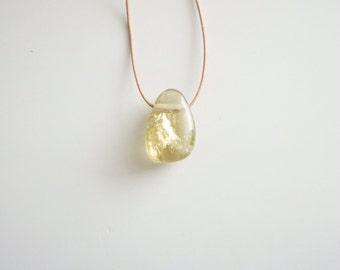 TEG Egg Necklace (Opalite, Lemon Quartz or Yellow Calcite)