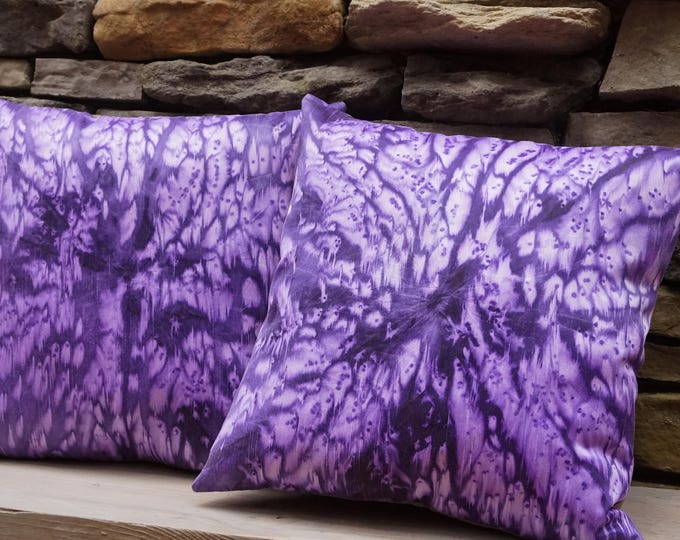 Deep Purple Pillows-Tie Dye Pillow-Boho Decor-Bohemian Decor-Girl's Room Decor-Mother's Day Gift-Home Decor Gifts-Watercolor Home Decor
