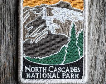 North Cascades National Park Souvenir Patch Traveler Series Iron-on Washington