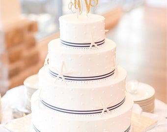 Monogram Cake Topper - Wedding Cake Topper - Birthday Cake Topper - Baby Shower Cake Topper - Anniversary Cake Topper - Bachelorette Party