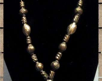 Men's  metal beaded necklace manly and trendy gift for him
