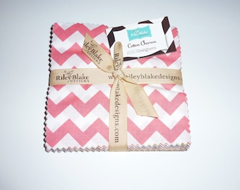 "SALE *** Small Chevron 5"" Squares Charm Pack, 24 pieces"