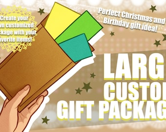 LARGE custom gift package | Christmas - Birthday - Gift Idea | 100% customizable
