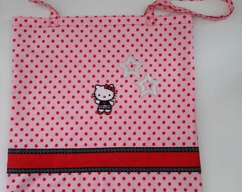 tote bag Hello Kitty, grocery bag, shopping, library bag, hand made sports, cat