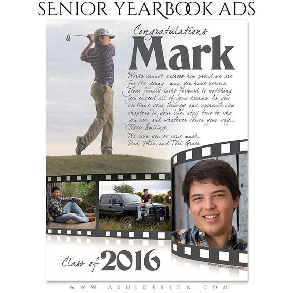 Anuario Senior Photoshop plantillas celuloide High School