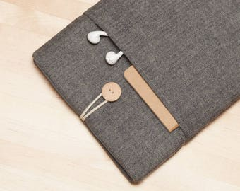 ipad mini sleeve / iPad mini case / ipad mini cover / iPad mini 2 3 4 case - Flannel grey
