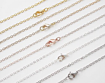 45cm oval cable link chains rose gold