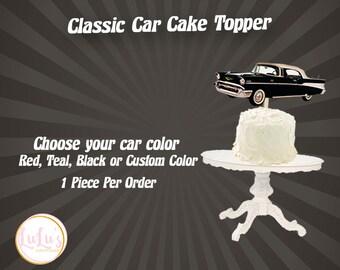 Classic Car Cake Topper - 60th Birthday - 57 Chevy Birthday Decor