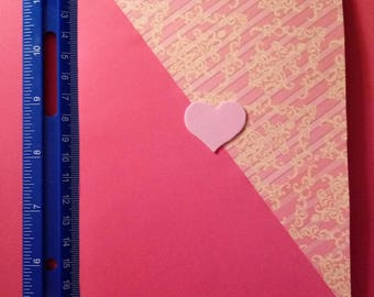 Dual Color Heart Card