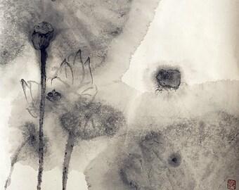 Ink Lotus Impression
