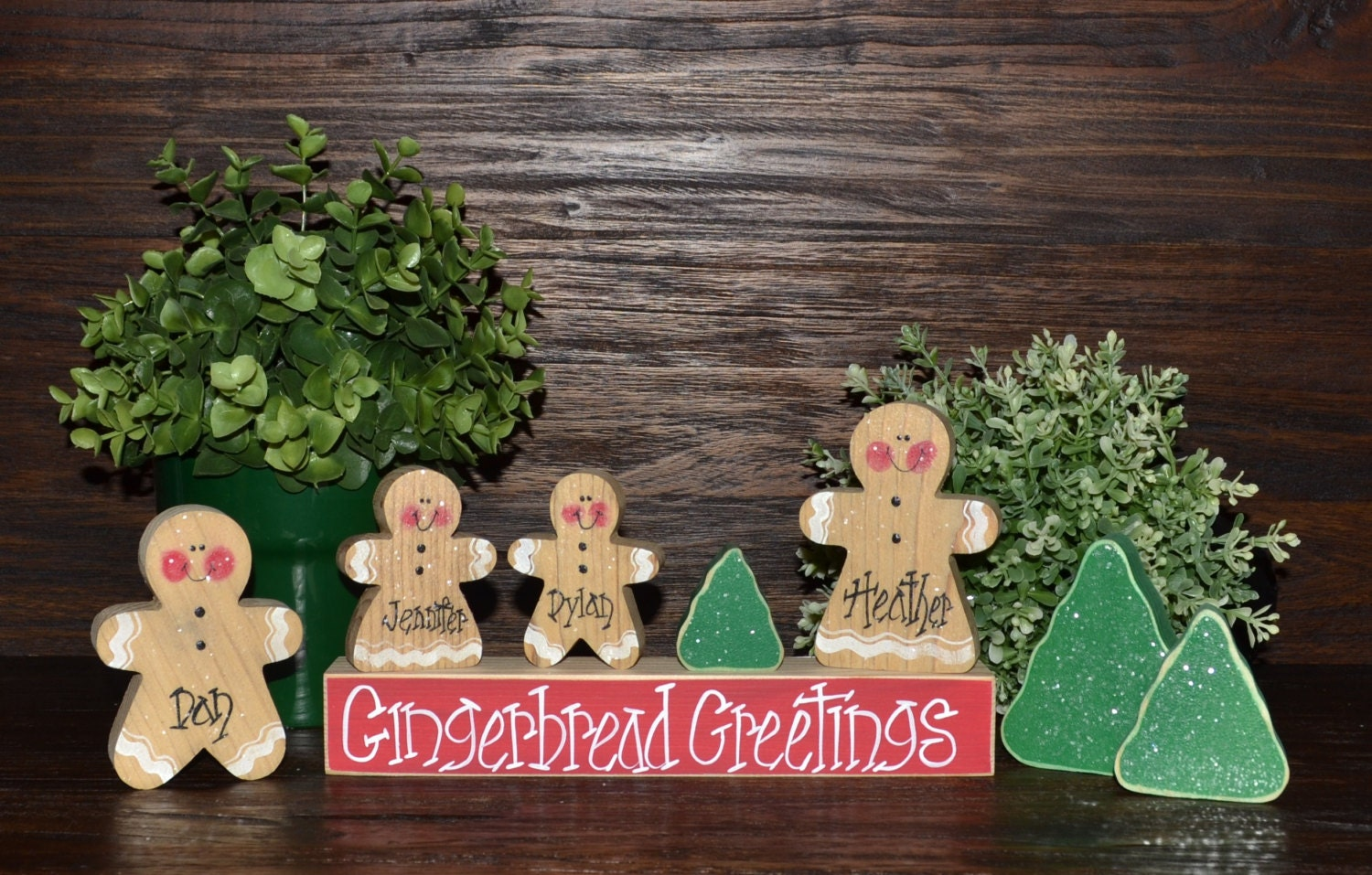 Gingerbread Christmas Decor Personalized Gingerbread Men