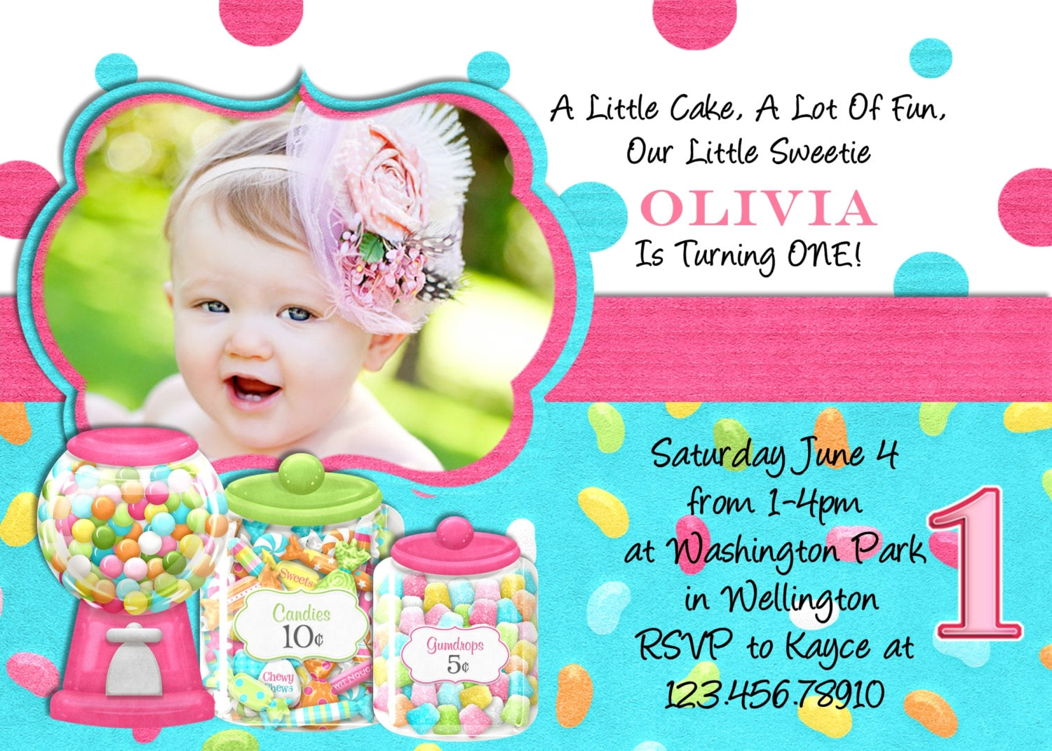 Sweet shoppe birthday party invitation printable photo card zoom monicamarmolfo Image collections