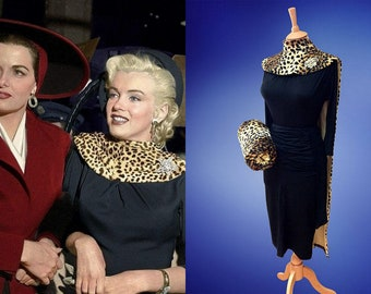 Marilyn Monroe...Gentlemen Prefer Blondes...Leopard cape and  matching hand muff
