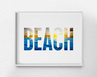 Beach Art, Beach Decor, Beach Print, Summer Art, Summer Decor, Beach Sign, Coastal Decor, Beach House Art, Beach Poster, 0345