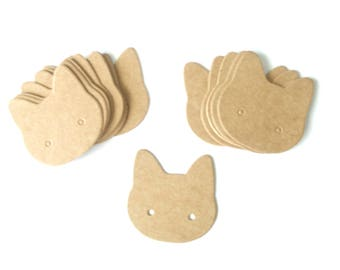 10 Supports earrings display cardboard Cat 3.5cmx3.5cm