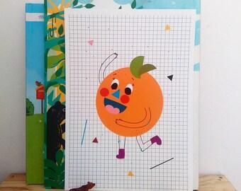Print- Orange U Glad-